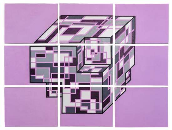 Abstract Geometric Art 2011 Cube