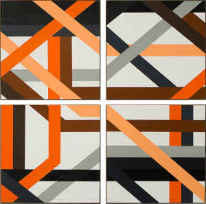 Abstract Geometric Art Painting from 2012 by Antar Spearmon Ginger