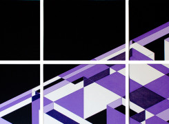Abstract Geometric Art 2012 Antar Spearmon Painting: Slant
