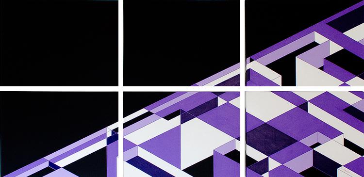 Abstract Geometric Art 2012 Antar Spearmon Painting: Slant