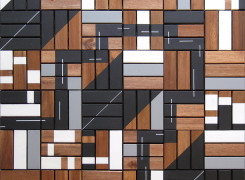 Abstract Geometric Art 2012 Antar Spearmon Wooden Jungle