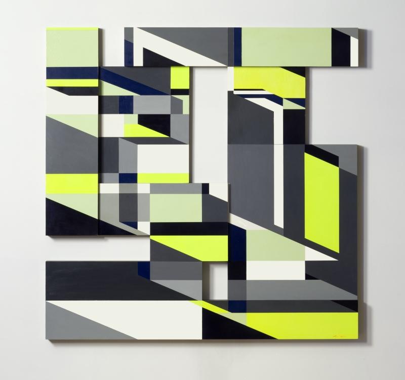 """48"""" x 48"""", Acrylic on Wood, 2014"""