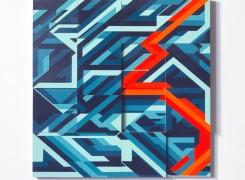 """36"""" x 36"""" Acrylic on Wood, 2014"""